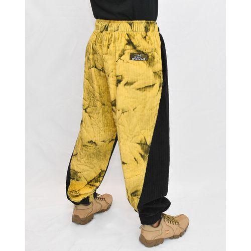 Costas Calça Veludo Tie Dye Brasão Amarelo