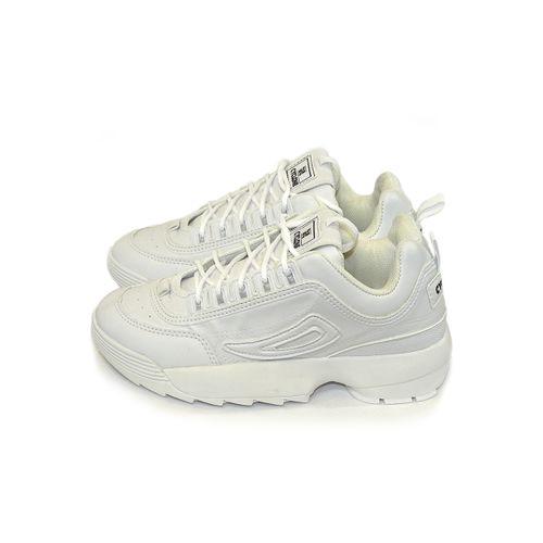 Lateral Tênis Track Sneaker Branco