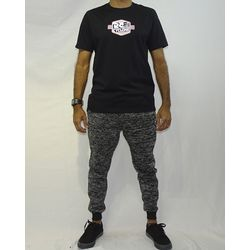 Look Calça Moletom Chess Ball Mescla