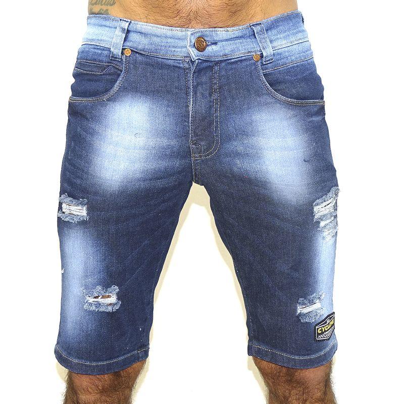 Bermuda Jeans Stretch Metal