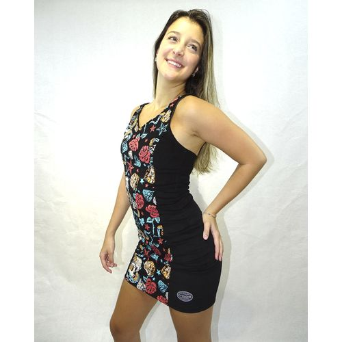 Vestido Veludo Snake Tattoo Light Preto