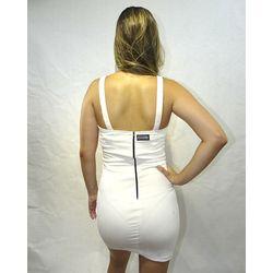 Costas Vestido Veludo Fashion Light Branco