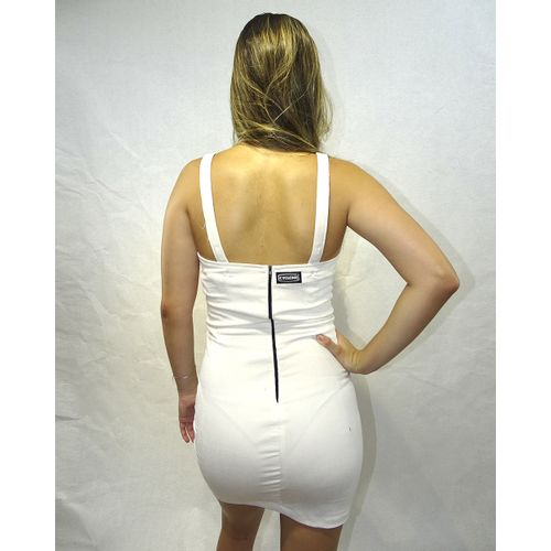 Costas Vestido Veludo Fashion Light Branco