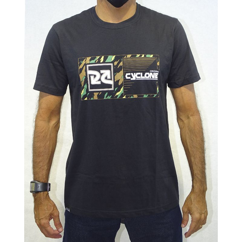 Camisa-Relax-Camouflage-Preto