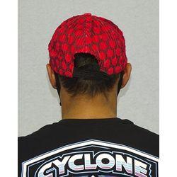 Bone-Veludo-Hexagon-Vermelho-Costas