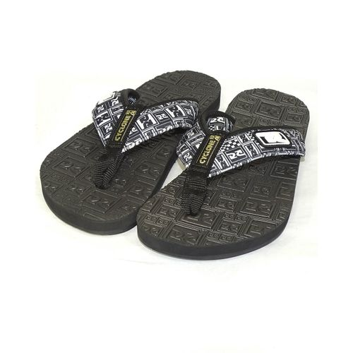 Chinelo-Deck-Logo-Black-And-White-Preto