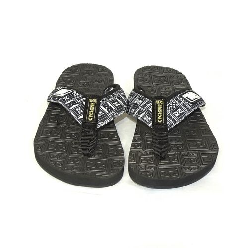 Frente-Chinelo-Deck-Logo-Black-And-White-Preto