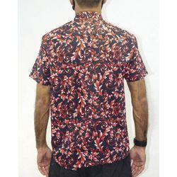Costas-Camisa-Tecido-Roma-Preto-Vermelho