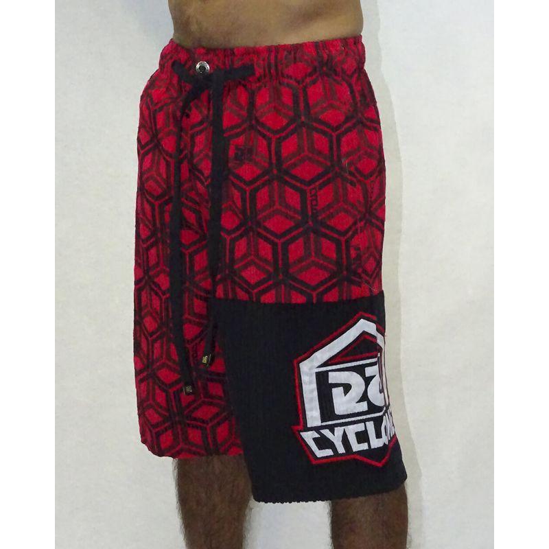 Bermuda-Veludo-Hexagon-Vermelho