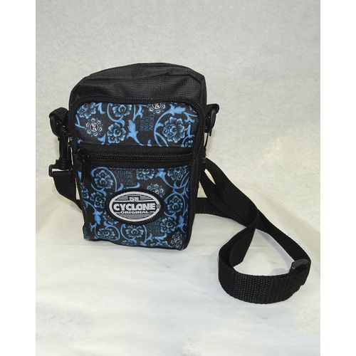 Bolsa-Shoulder-Floral-Gothic-Preto-Azul