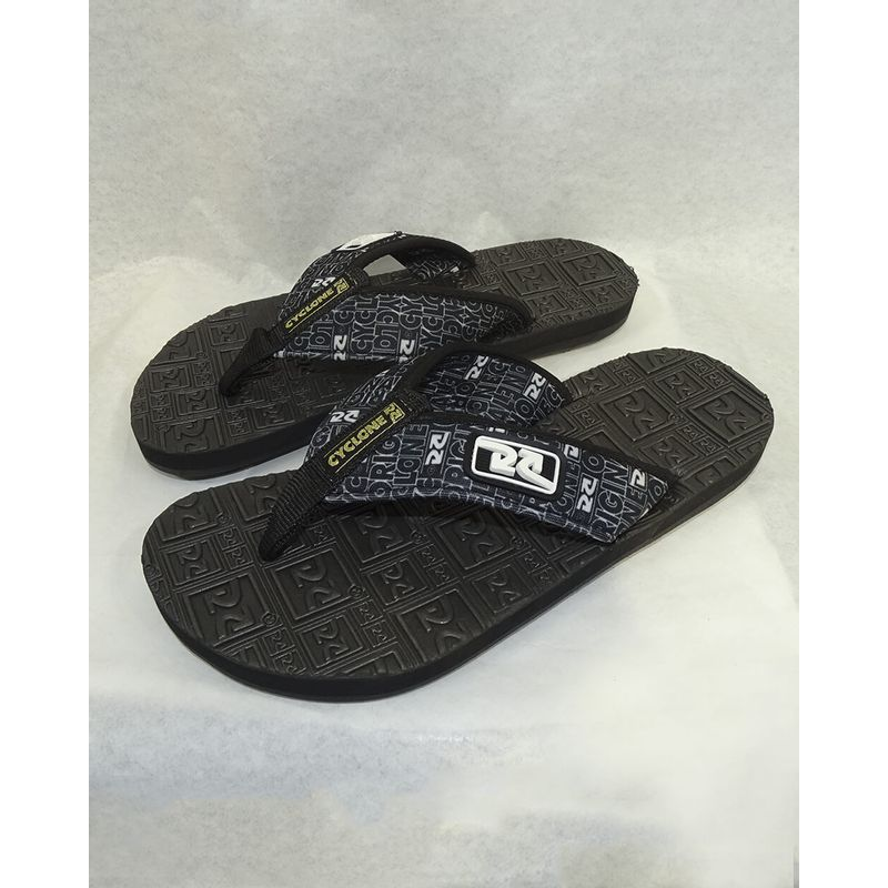 Chinelo-Deck-Logo-New-Forever-Preto