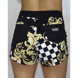 Costas-Short-Veludo-Chess-Tribal-Light-Preto