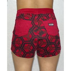 Costas-Short-Veludo-Hexagon-Light-Vermelho