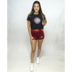 Look-Short-Veludo-Hexagon-Light-Vermelho