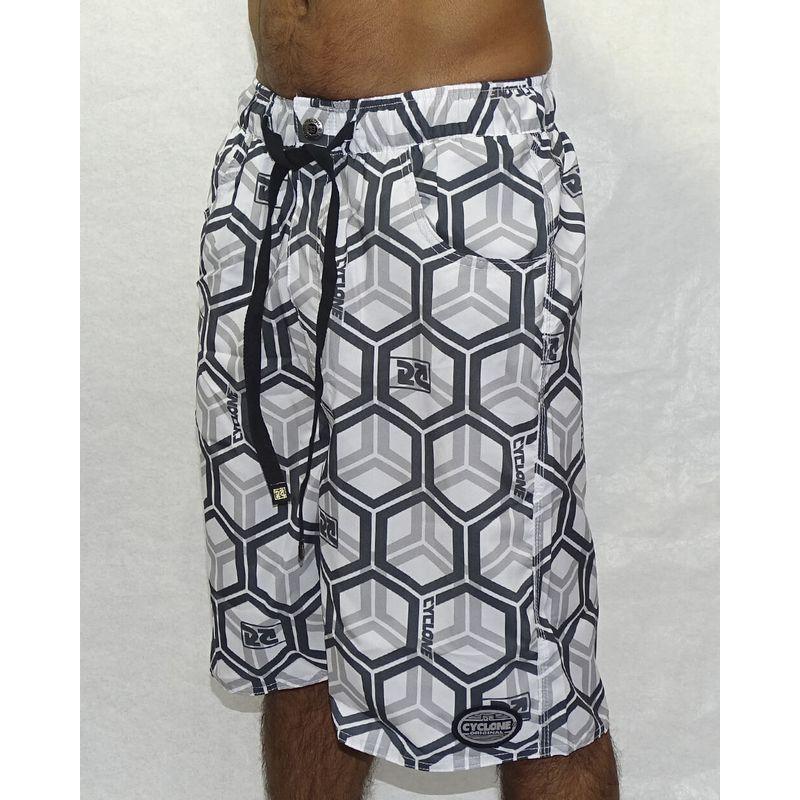 Bermuda-Microfibra-Hexagon-Branco