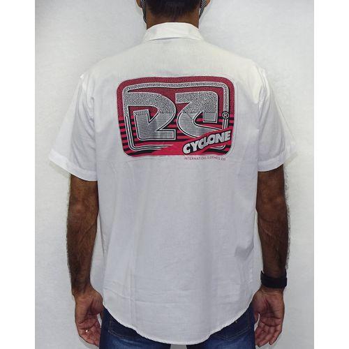 Costas-Camisa-Tecido-Logos-Metal-Branco