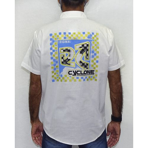 Costas-Camisa-Tecido-Xadrez-Metal-Branco