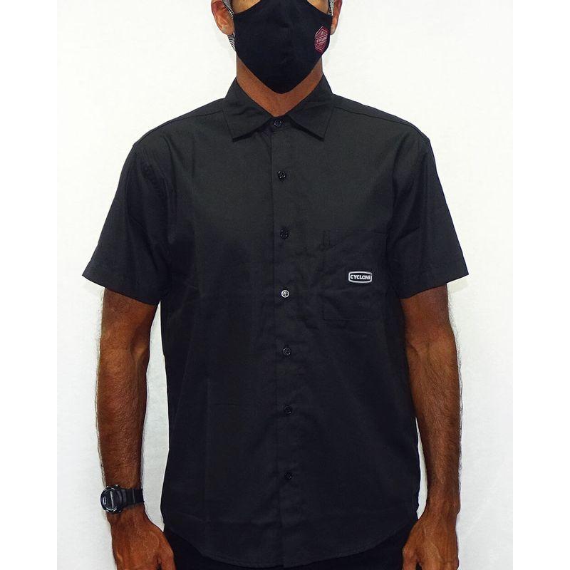 Camisa-Tecido-Raios-Metal-Preto