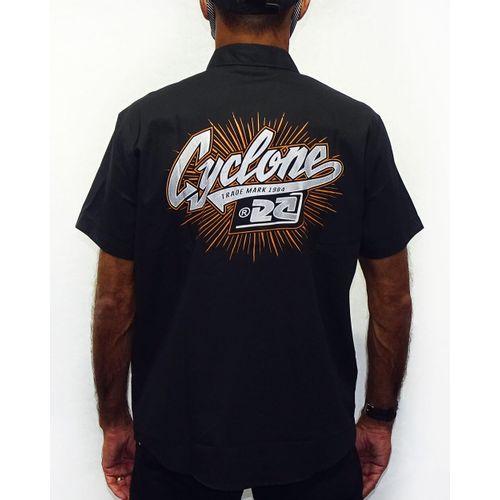 Costas-Camisa-Tecido-Raios-Metal-Preto