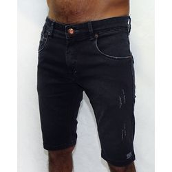 Bermuda-Jeans-Stretch-Uded-Black-Jeans