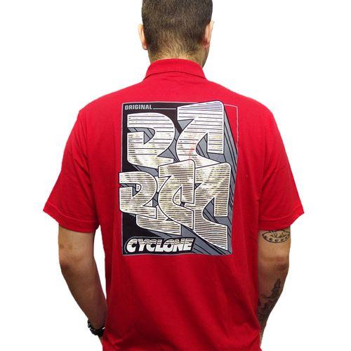 Costas-Camisa-Polo-Shanghai-Metal-Vermelho