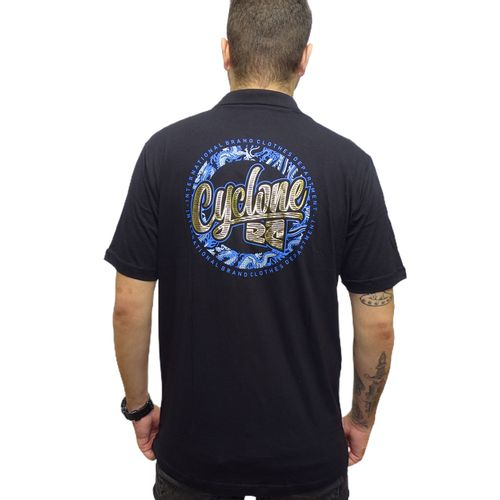 Costas-Camisa-Polo-Banzai-Metal-Preto