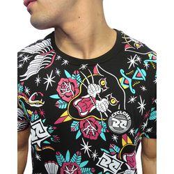 Crop-Camisa-Dif-Old-Tattoo-Preto
