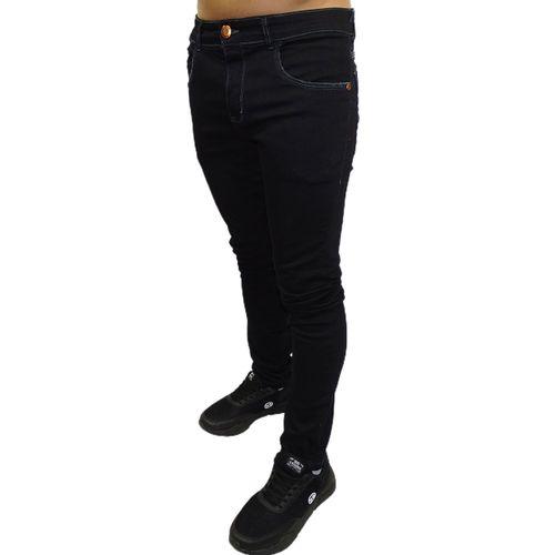 Calca-Jeans-Stretch-Black-Solid-Preto