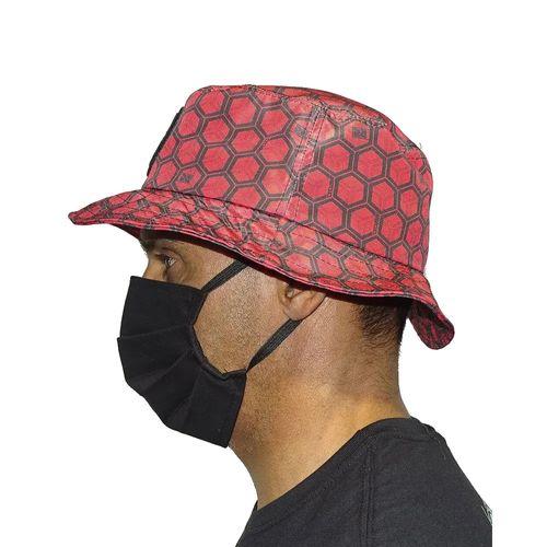 Chapeu-Bucket-Hexagon-Vermelho-Lateral