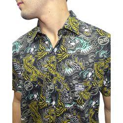 Crop-Camisa-Tecido-Panther-Preto