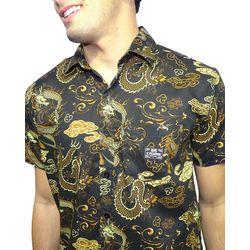 Crop-Camisa-Tecido-Oriental-Preto